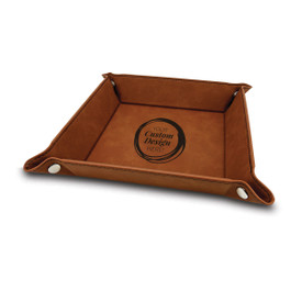Catchall tray with your laser-engraved custom logo. Available in 5 colors.