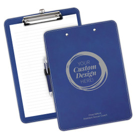 """9""""w x 12.5""""h Richly Textured Clipboard Featuring Your Custom School Logo Or Design Available In 5 Colors."""
