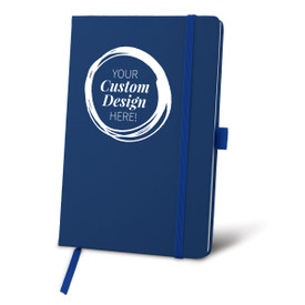 Custom Blue Colorful Hardbound Journal