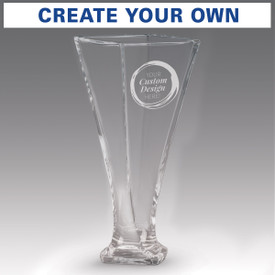 contemporary optic crystal vase with create your own option
