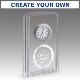 optic crystal tower clock with create your own option