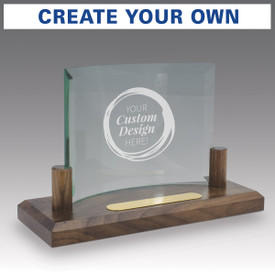 create your own curved glass base award