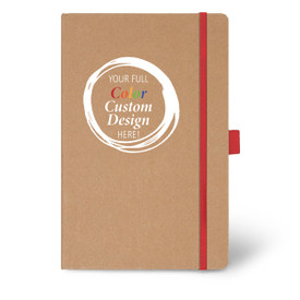 Add Your Full Color Logo On The Cover Of This Eco-Friendly Hardbound Journal. 5 colors to choose from.