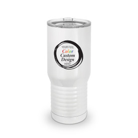 20 oz. stainless steel tall tumbler with your full color custom logo