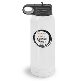 30 oz. stainless steel water bottle with your full color custom logo