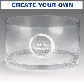 large crystal recognition bowl with create your own option
