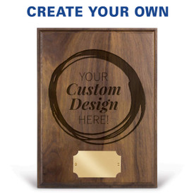 laser engraved solid walnut plaque with create your own option