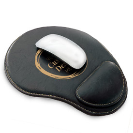 Durable & Professional-Looking Mouse Pad With Wrist Rest Featuring Your Custom School Logo Or Design. Available In 5 Colors.