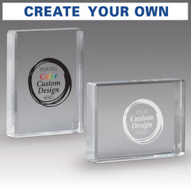 create your ow optic crystal paperweight