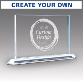 solid crystal tribute award with create your own option