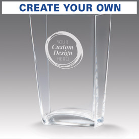 recognition crystal vase with create your own option