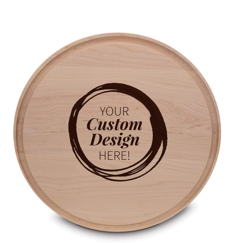 create your own round maple cutting board