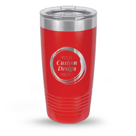 create your own black 20 oz. stainless steel tumbler