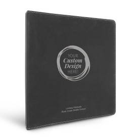 """3 Ring Binder Notebook Featuring Your Custom School Logo Or Design. Available In 5 Colors. 10.5""""w x 11.5""""h."""