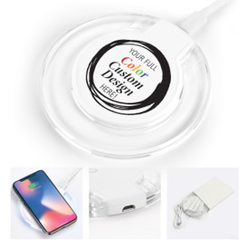This custom wireless charger with LED light is the perfect functional gift for teachers.