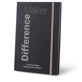 difference maker black journal with gray accents and personalization