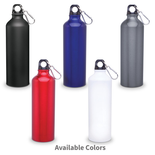 multiple colors of 24 oz carabiner canteens