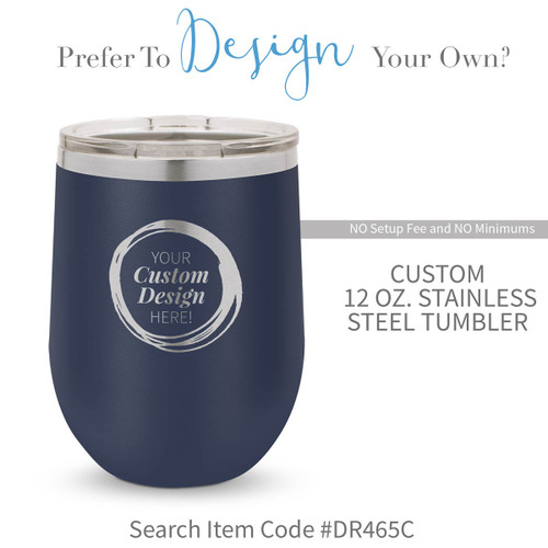 create your own navy 12 oz. stainless steel tumbler