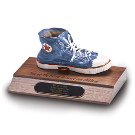 base award with blue sneaker and extra distance message