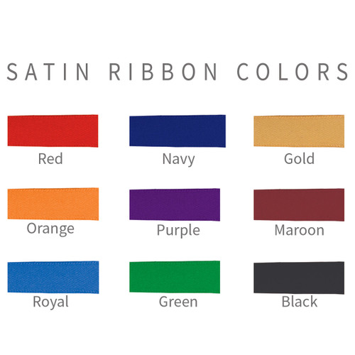 satin ribbon colors for crystal ornaments
