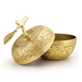 Handmade Gold Embossed Apple Dish Award.