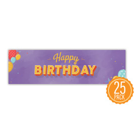 """Colorful 2"""" x 8"""" Student Bookmark That Reads """"Happy Birthday"""" On The Front"""