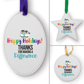 This Happy Holidays! Thanks For Making A Difference Ornament Is the Perfect Way to Show Your Appreciation for Teachers This Holiday Season