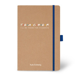 Eco-Friendly Hardbound Journal Featuring the Inspirational Message I'll Be There for Students. 5 colors to choose from.