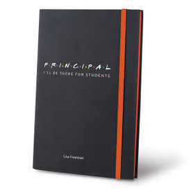 i'll be there for students black journals with orange accents and personalization