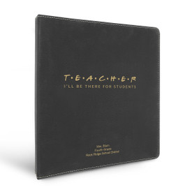 """3 Ring Binder Notebook Featuring The Message: I'll Be There For Students. Available In 5 Colors. 10.5""""w x 11.5""""h."""