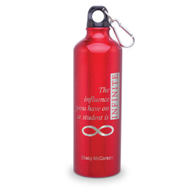 24oz. carabiner canteen featuring the inspirational message Infinity. 5 colors to choose from.