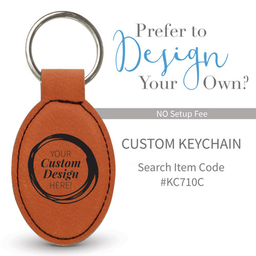 create your own rawhide oval leather keychain