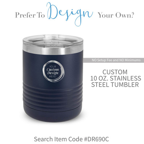 create your own blue stainless steel tumbler