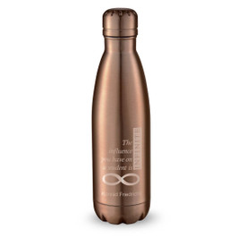 copper stainless steel water bottle with infinity message