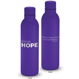 17oz. stainless steel insulated water bottle featuring the inspirational message Inspire Hope. 6 colors to choose from.