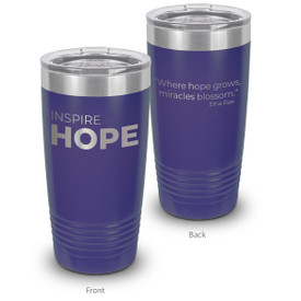 This 20oz. Stainless Steel Tumbler features The Message Inspire Hope Making It The Perfect Gift For Teachers.