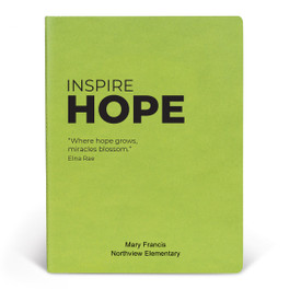 ApPEEL Grande Journal featuring the inspirational message Inspire Hope. 3 colors to choose from.