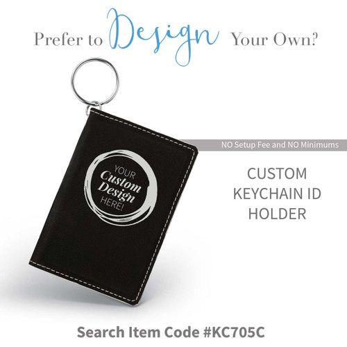 create your own black leather id holder