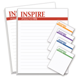 Notepads For Teachers Featuring The Saying Inspire #teacherlife. 2 Pads. 75 Sheets Per Pad.