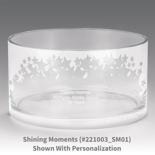 large crystal recognition bowl with shining moments design