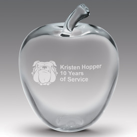 This Large Optic Crystal Apple Award Is A Great Way To Honor And Recognize Teachers.