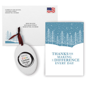 This Appreciation Mailer Kit Includes A Making A Difference Greeting Card With Matching Envelope And A Custom Colorful Ornament. It's the Perfect Holiday Gift for Teachers.