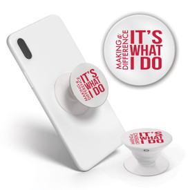 This Pop-Out Phone Grip featuring the inspirational Make A Difference message in red is the perfect functional gift for teachers.