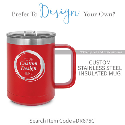 create your own red stainless steel mug