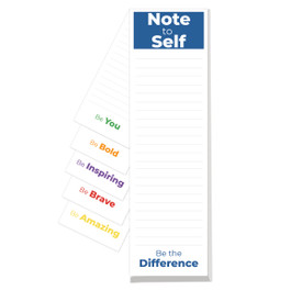This note to self notepad features uplifting messages on each sheet making it a great gift for teachers.