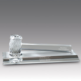 Recognize School Board Members And Leaders For Their Service To Education With This High Quality Optic Crystal Gavel Base Award.
