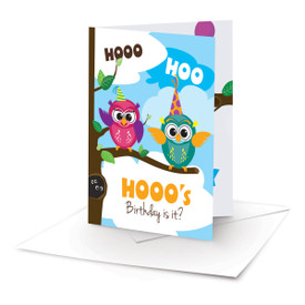 Owl Birthday Cards Package Of 30