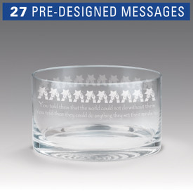 petite crystal bowl with star polisher message