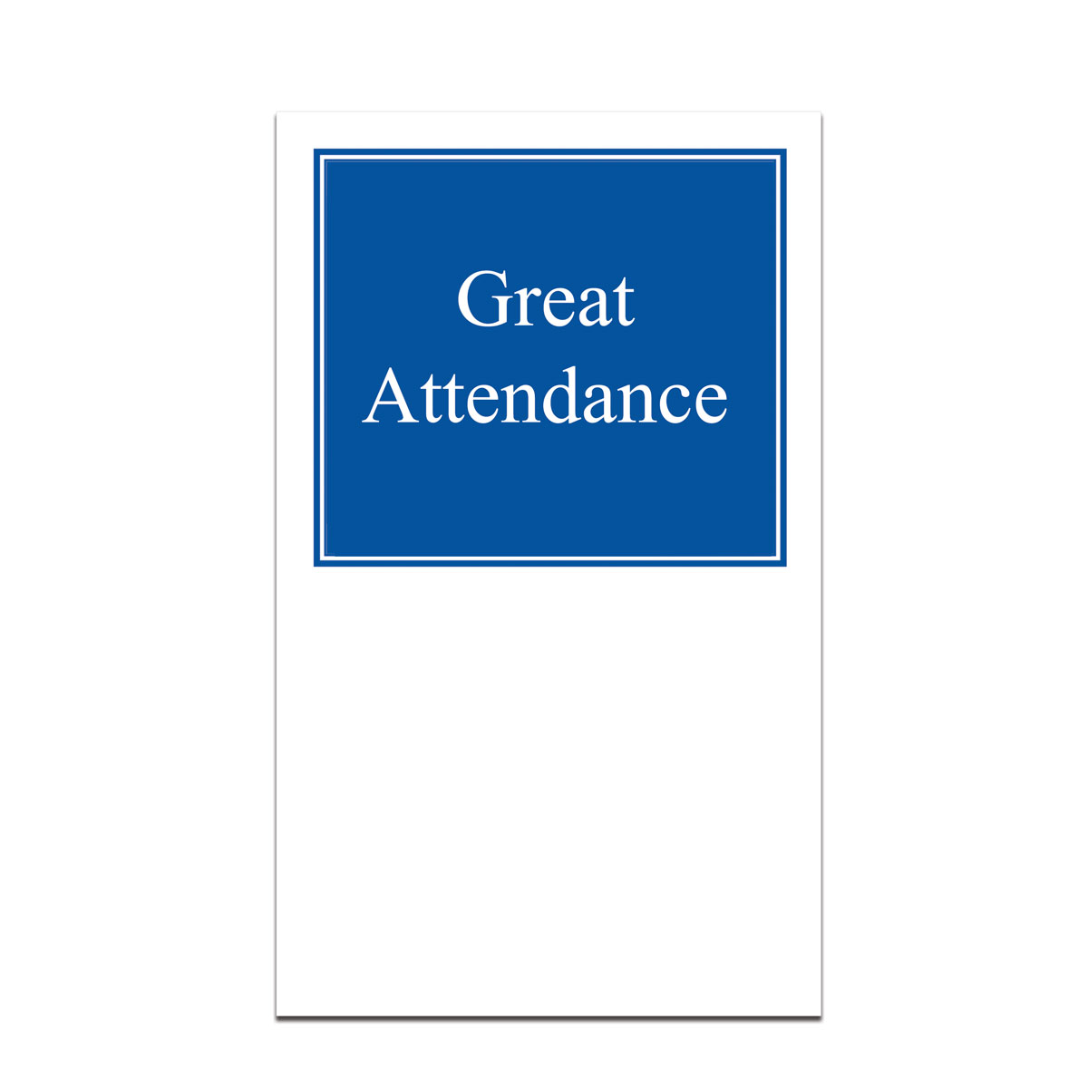 pocket card with great attendance message