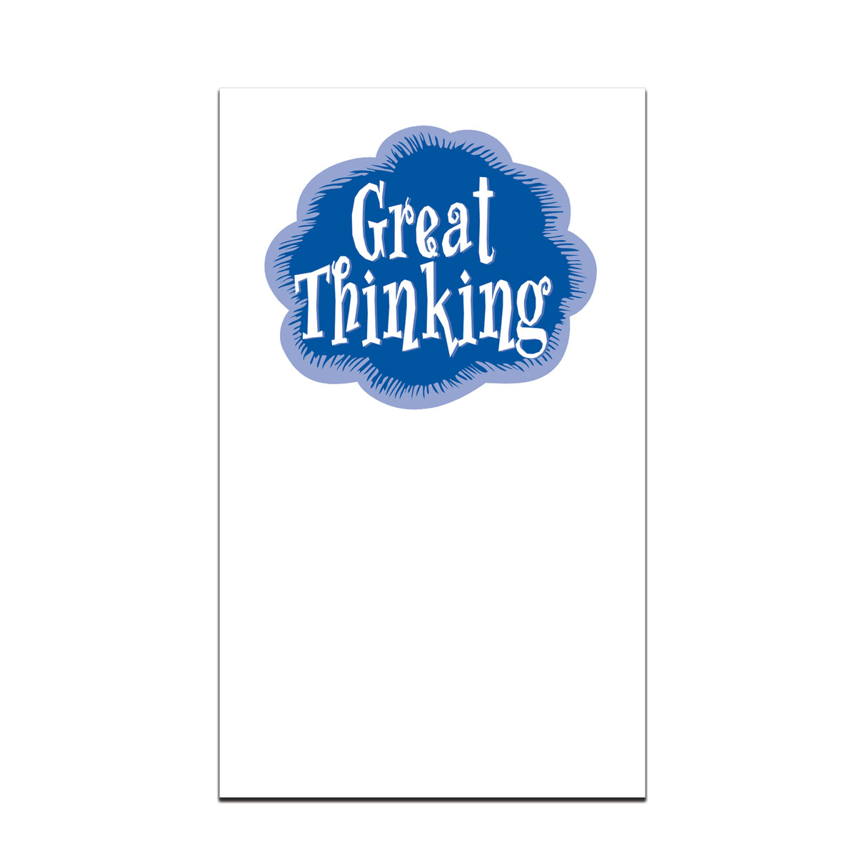 pocket card with great thinking message